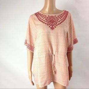 Anthropologie One September Tunic Chiffon Top